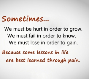 Sometimes. . .Pain